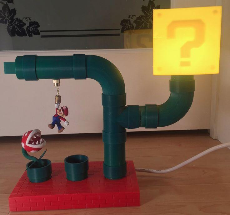 Ten 3D Printed Super Mario Things - Mario Themed Desk Lamp - Article by 3dprint.com