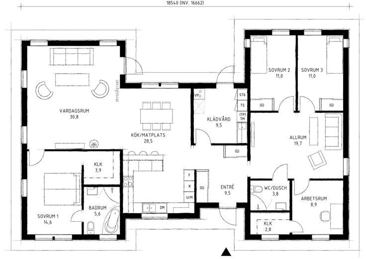Alternativa planlösningar för villa Brantevik | A-hus