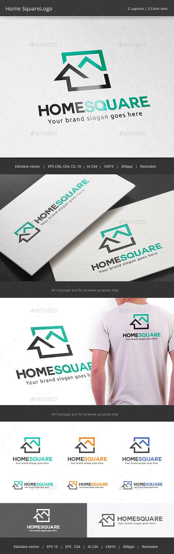 93 best real estate logo images on pinterest real estate logo home square real estate logo reheart Choice Image