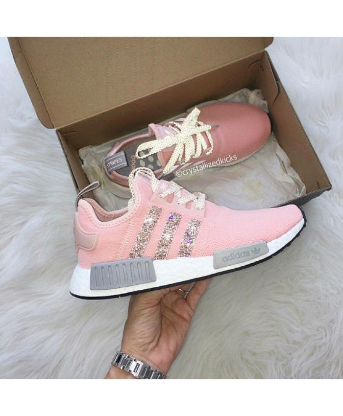 Cheap Adidas NMD Runner Pink Trainers with Swarovski Sale Clearance ... 8eb48e29ed