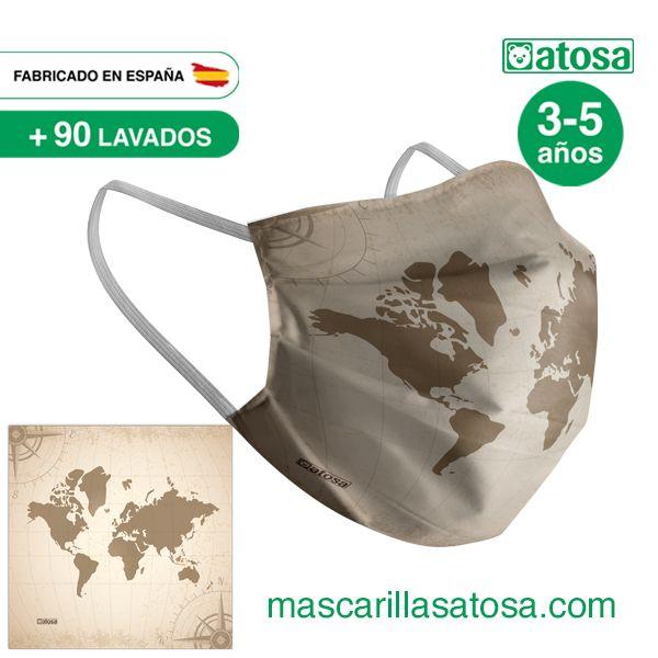 Mascarilla Fabricaci/ón Espa/ñola Blanca Especificaci/ón UNE 0065:2020 Blanca
