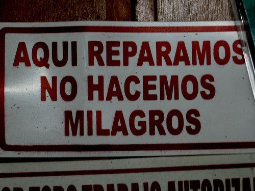 Funny signs in Spanish