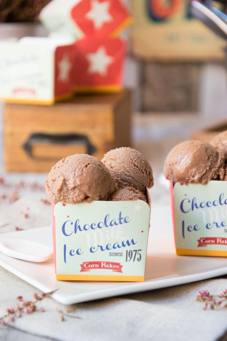 helado de chocolate hecho en heladera