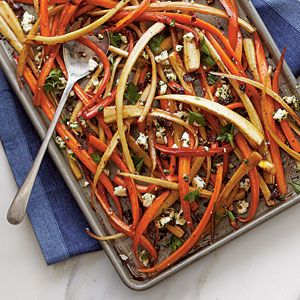 60 Spectacular Thanksgiving Sides  Balsamic-Roasted Carrots and Parsnips