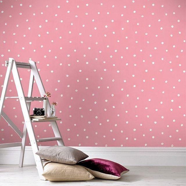 25 beste idee n over behang met stippen op pinterest kamer met stippen badkamer met stippen - Behang volwassene kamer behang ...