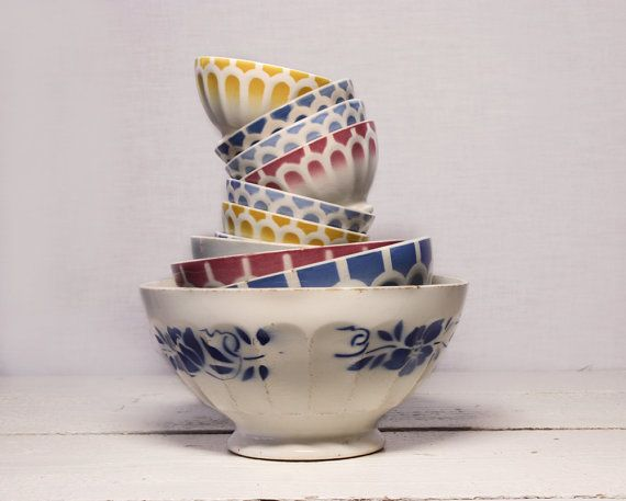 French Vintage bowls
