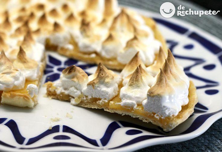Tarta de limón y merengue. Lemon Pie - Recetasderechupete.com