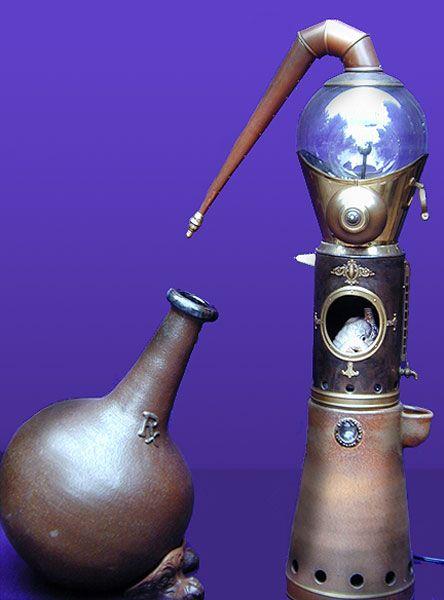 Alchemy:  Souffler's Furnace.  Alchemy apparatus.
