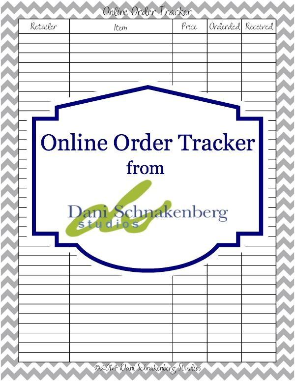 {Functional Printables} Online Order Tracking