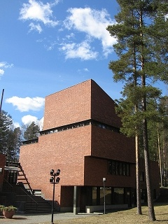 Säynätsalo Municipal Office designed by Alvar Aalto
