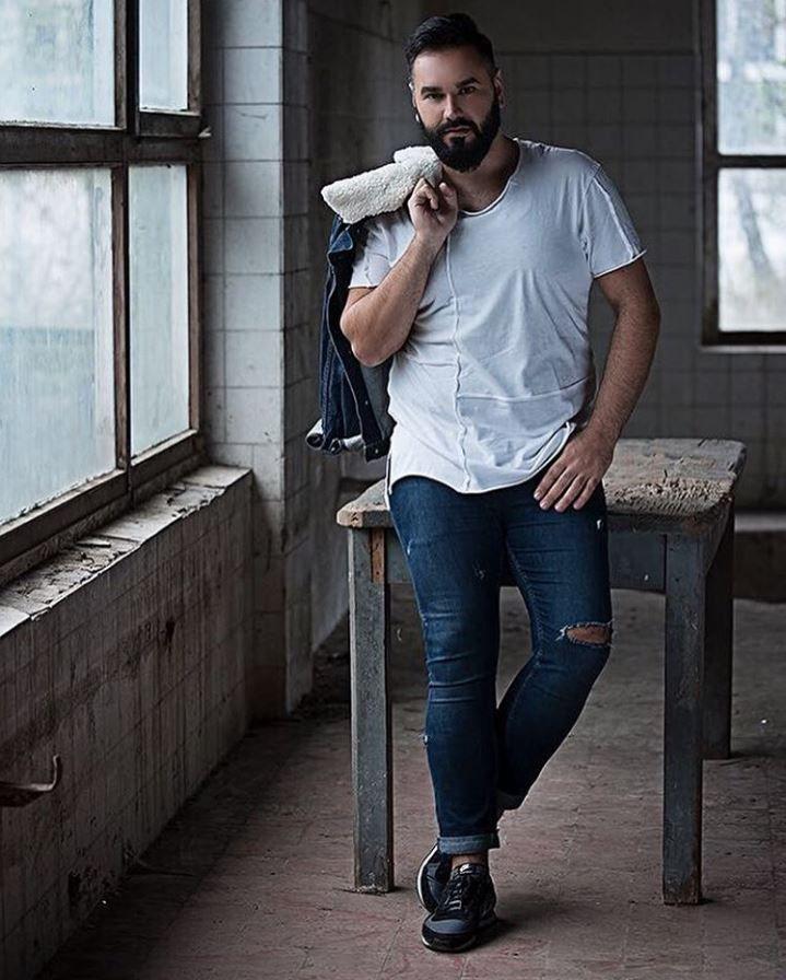 veste jeans col fausse fourrure homme grande taille