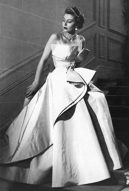Portrait of a lady wearing Christian Dior- 1949