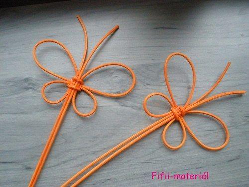 Zápich motýl pedik - oranžová