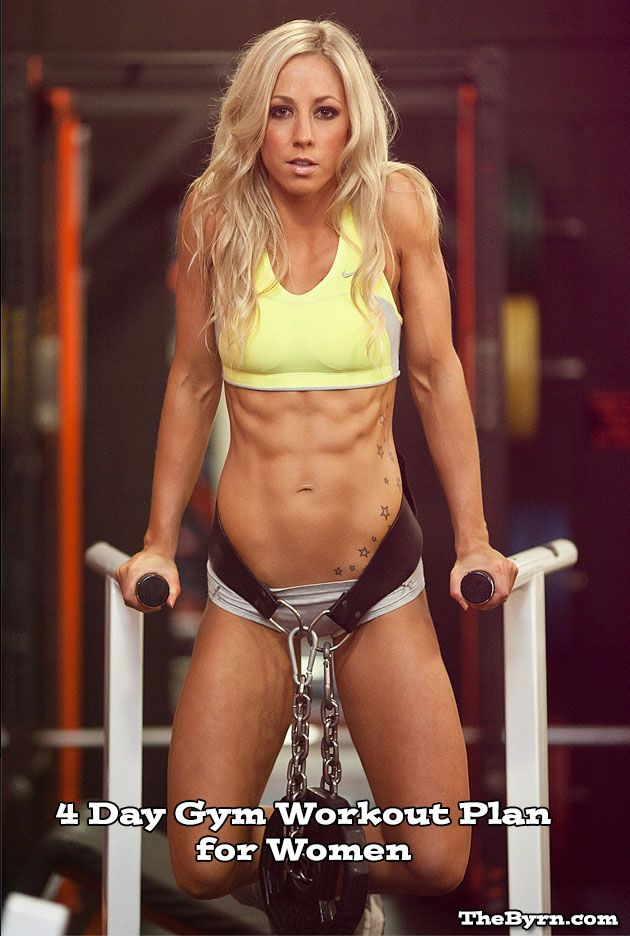 4 Day Gym Workout Plan for Women