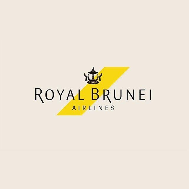 Royal Brunei Airlines logo by Rebrand Agency #logo #identity #branding #gfxmob