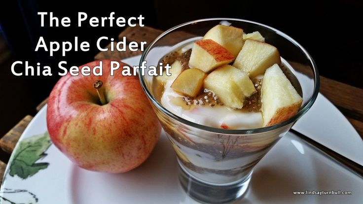 A wonderful fall combination of chia with sweet and spicy apple cider!  Don't miss out on this great health dessert!