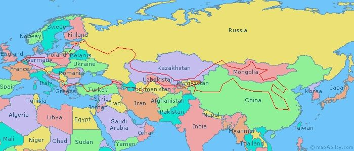 Europe Asia Political Map map europe asia map of europe and asia ...