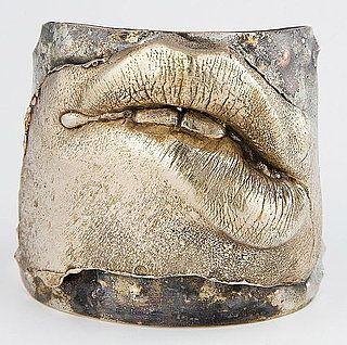 LipService cuff bracelet by Simone De Bernard Mas