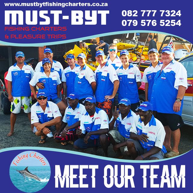 Meet the @mustbytfishing #Charters team. You are looking at the best fisherman on the #KZNSouthCoast #GameFish