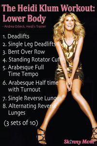 The Skinny: Heidi Klum's Workout! | Skinny | Skinny Mom | How to get skinny fast | Get Skinny | Skinny tips by modern fit and Skinny moms