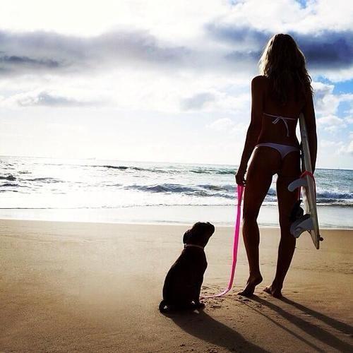 Surf girl & her best friend = love!