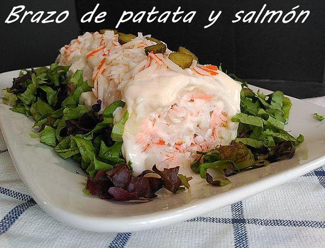 marronglacè: Brazo de patata con salmón