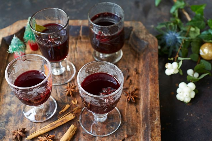 A pan of warming, spiced mulled wine (also called Gluhwein) is dead simple to make – it's the taste of Christmas in a glass. The classic recipe is a celebration of traditional festive spices, like cloves, cinnamon and nutmeg.
