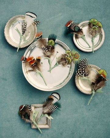 feather boutonniers