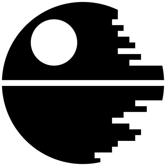 """Star Wars Death Star Dark Outline US Made Decal 3"""" Imperial military vader"""