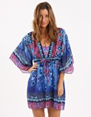 Gottex Contour Exotic Peacock Beach Dress - Multi Sashay around the pool in the Contour Exotic Peacock Beach Dress from Gottex with cocktail in hand! The intense colours and detailed print gives this kaftan an effortlessly glamorous look http://www.MightGet.com/january-2017-13/gottex-contour-exotic-peacock-beach-dress--multi.asp