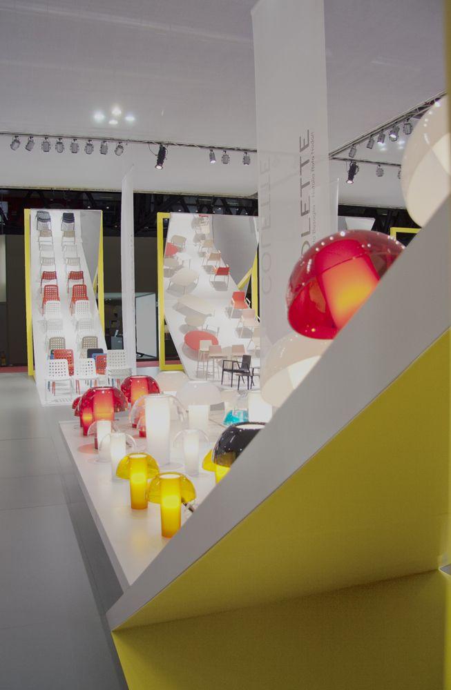 #meetingplaza where you can walk among products and #novelties 2013. #designweek #pedrali #mirror #multimediacommunication