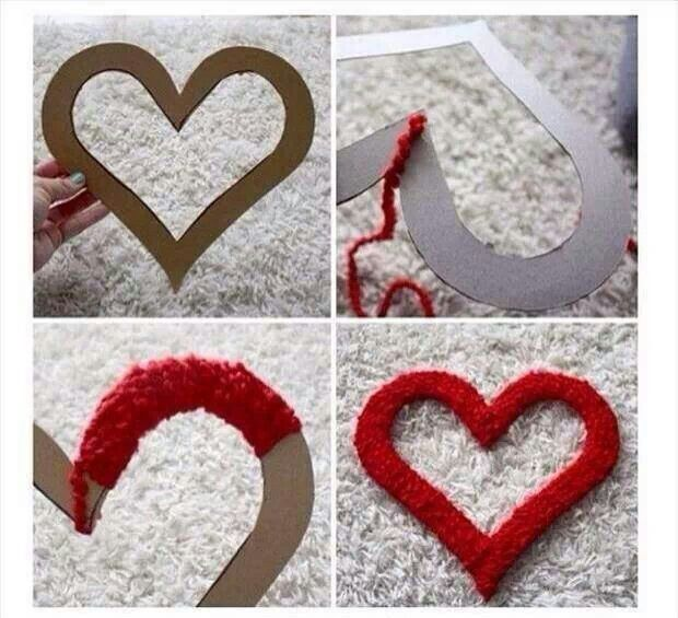 Cheap & easy valentine craft http://www.unitednow.com/search.aspx?searchTerm=yarn
