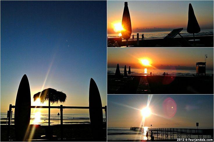 """La Notte Rosa Sunrise in Rimini"" by @FourJandals.com Adventure Travel Blog"