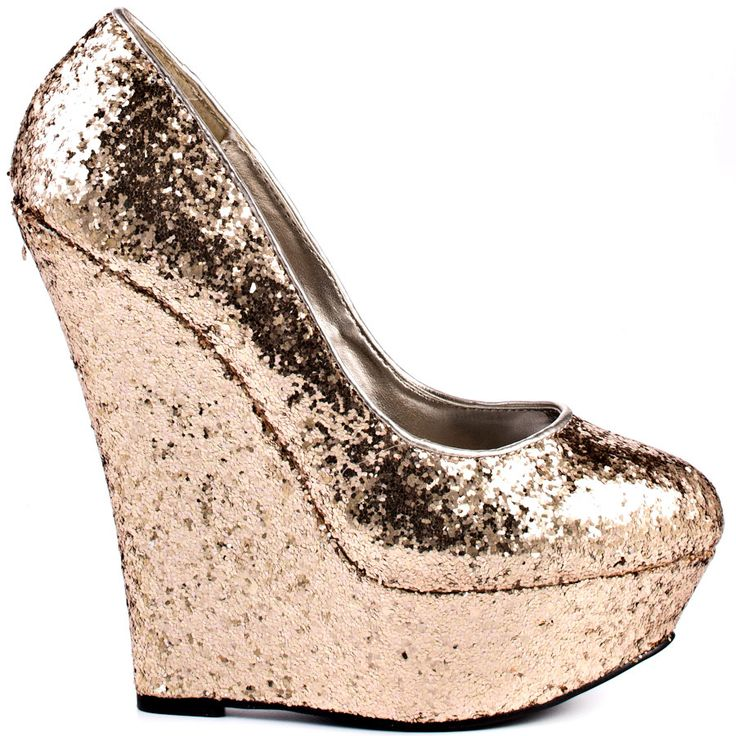 Glitter Wedges / Bebe. Party Shoes!