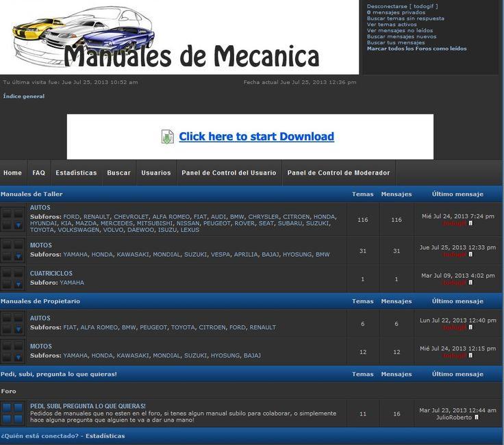 Descarga Manuales de Taller y Usuarios de Autos Motos gratis