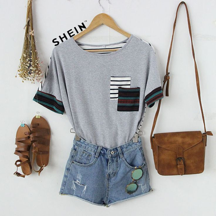 You know how to find a special T-shirt, you always do. #Multicolor #ShortSleeve #Stripe #Back #T-shirt