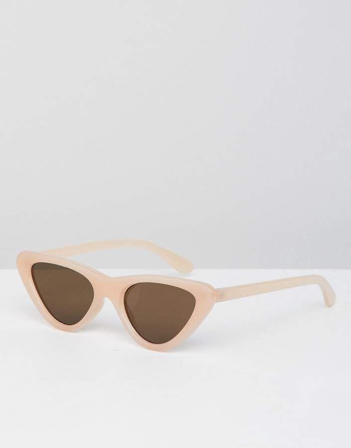 738d4b7d12470 Bershka cat eye sunglasses in light pink