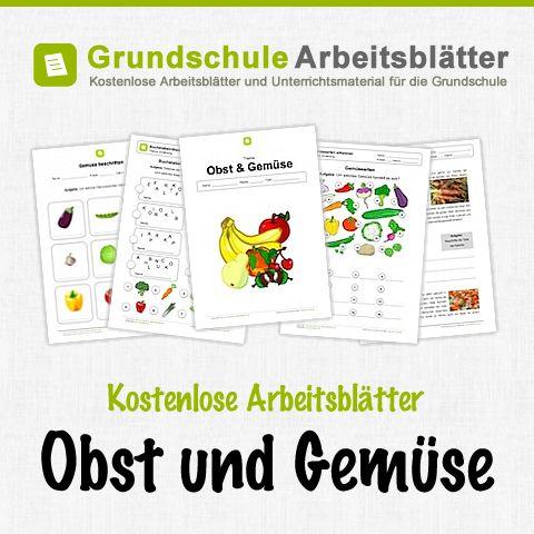 Kostenlose Arbeitsblätter und Unterrichtsmaterial für den Sachunterricht zum Thema Obst und Gemüse in der Grundschule.