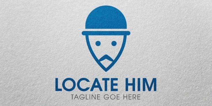 Locate Him Logo Template for Sale: 25$ + TVA