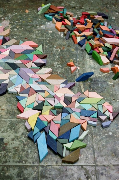 Geo Wood Blocks - Modern Blocks - Colorful Tiles | Small for Big