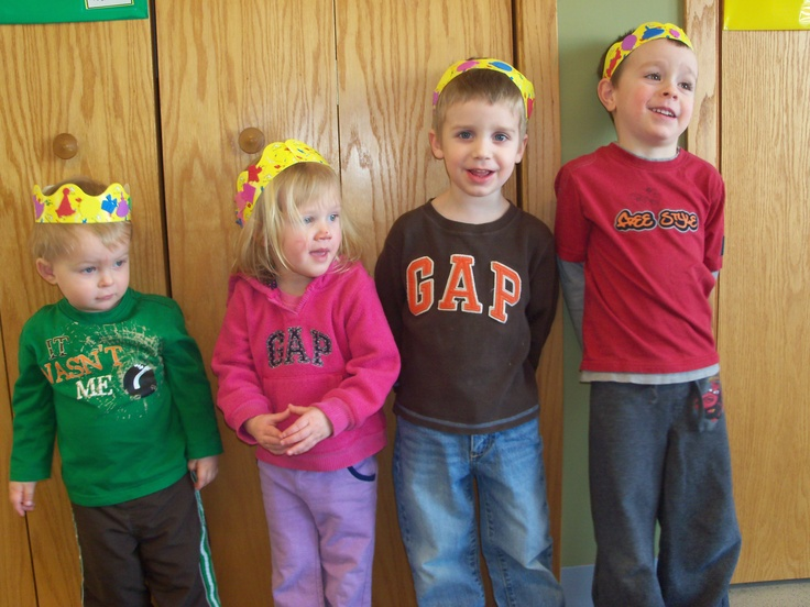 Birthday Crowns made from Dr, Seuss bulletin board edging.