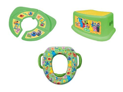 sesame street potty seat and step stool 1