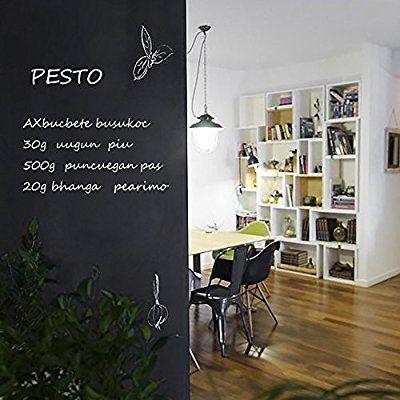 Eachgoo Tableau noir Tableau Amovible Adhésif ardoise autocollant 45cm x 200cm à 5 craies: Amazon.fr: Cuisine & Maison