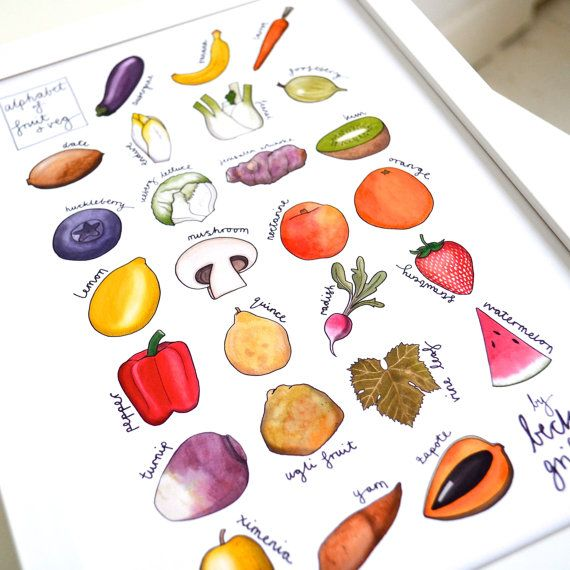Kitchen Poster Food As Alphabet With Food Name: 17 Best Ideas About Food Alphabet On Pinterest