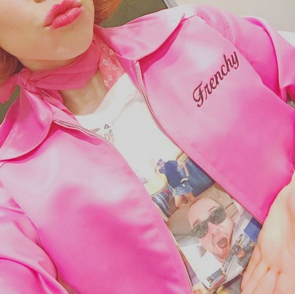 """Frenchy testing our her new iconic threads… 