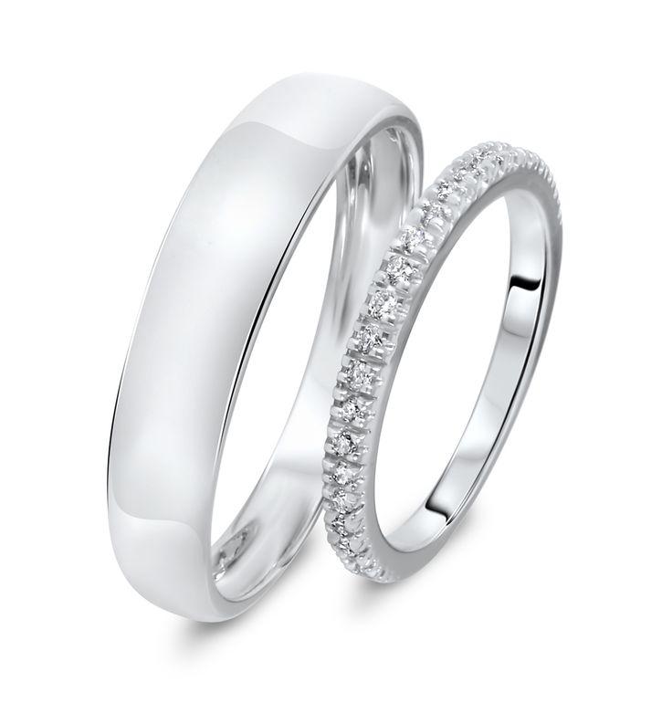 40 best wedding ring sets images on Pinterest Wedding bands