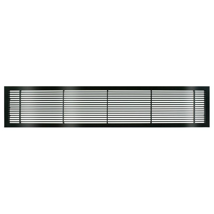 AG10 Series 8 in. x 14 in. Solid Aluminum Fixed Bar Supply/Return Air Vent Grille, Black-Gloss