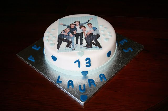 tarta fondant One Direction