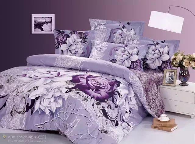 Hot Beautiful 4pc 100 Cotton Comforter Duvet Doona Cover Set Queen King Size Bedding Set 4pcs Beautiful Light Bed Comforter Sets Comforter Sets Bedding Sets