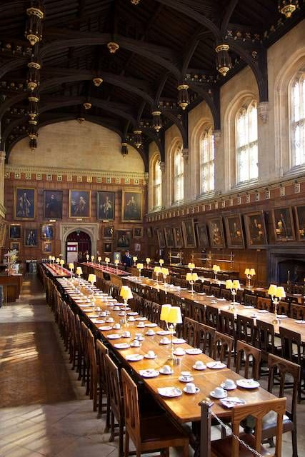 Christ Church College  The Great Hall was replicated for the Harry Potter films